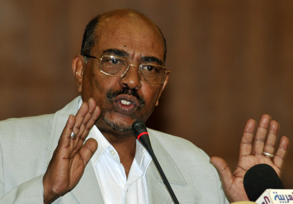 Sudan's President Bashir speaks during a signing ceremony in Khartoum