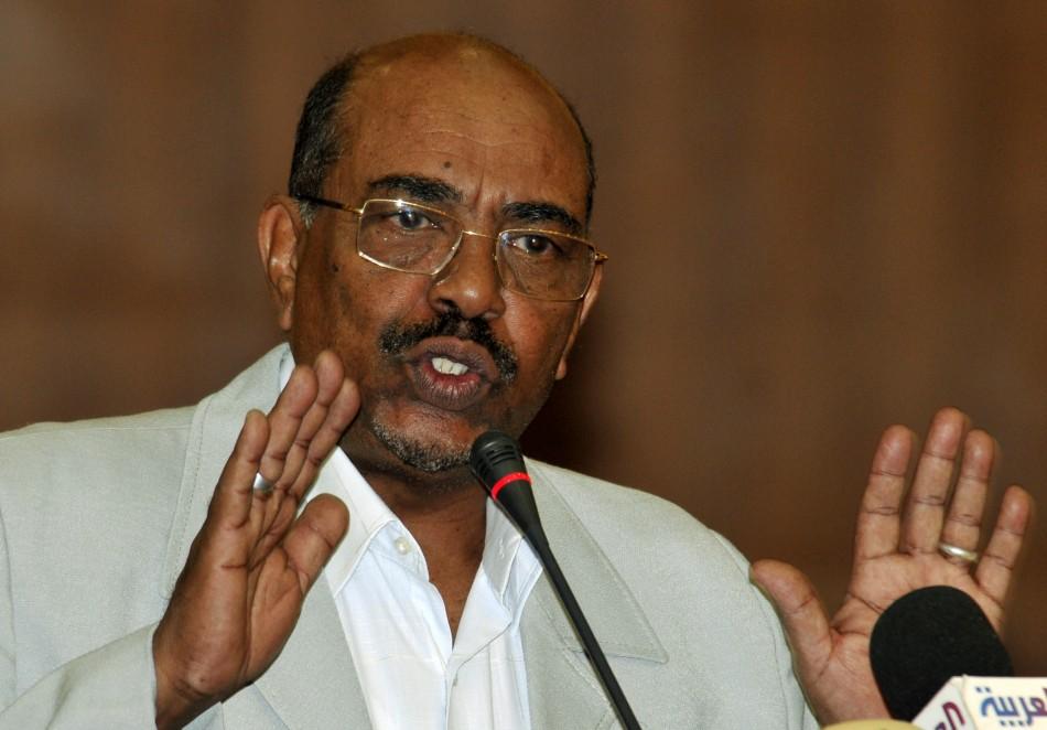 Sudan's President Bashir speaks during a signing ceremony in Khartoum