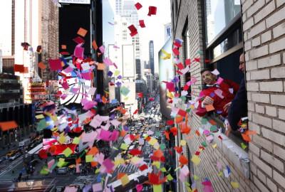 Confetti Shower at Times Square