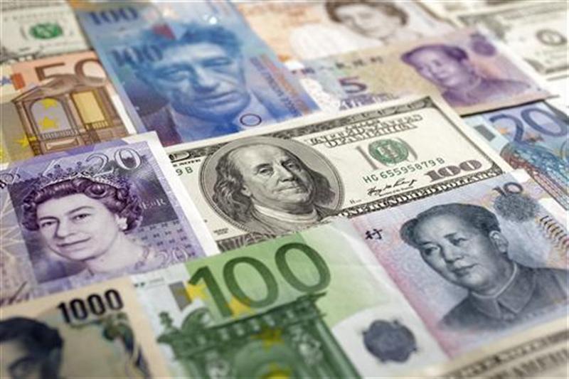 Arrangement of various world currencies
