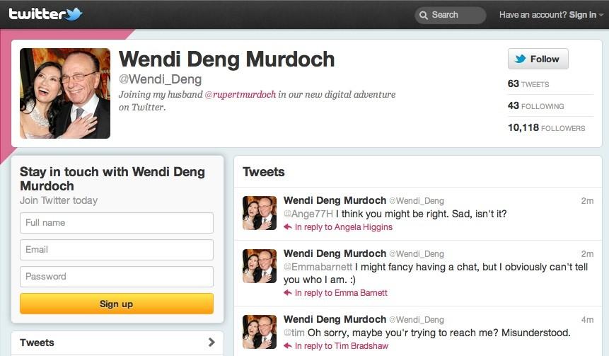 Wendi Deng Twitter