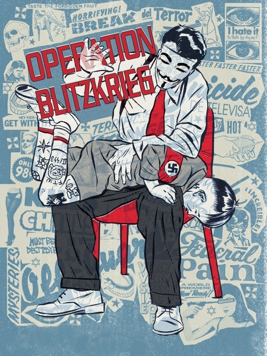 Anonymous 'Spank' Naughty Neo-Nazis with 'OpBlitzkrieg' Hack