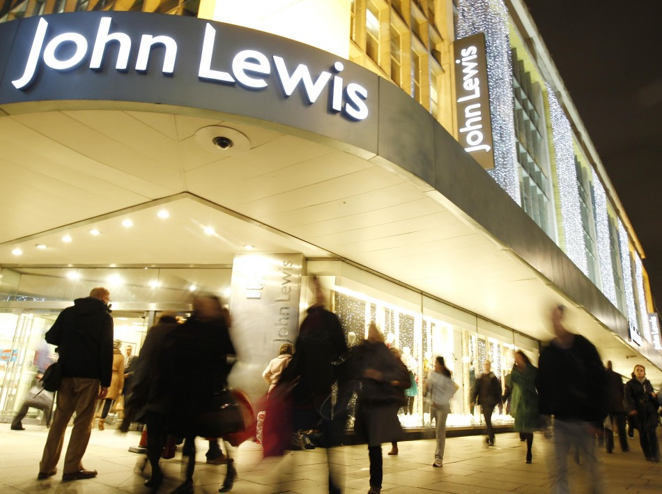 Shoppers at John Lewis in Oxford Street