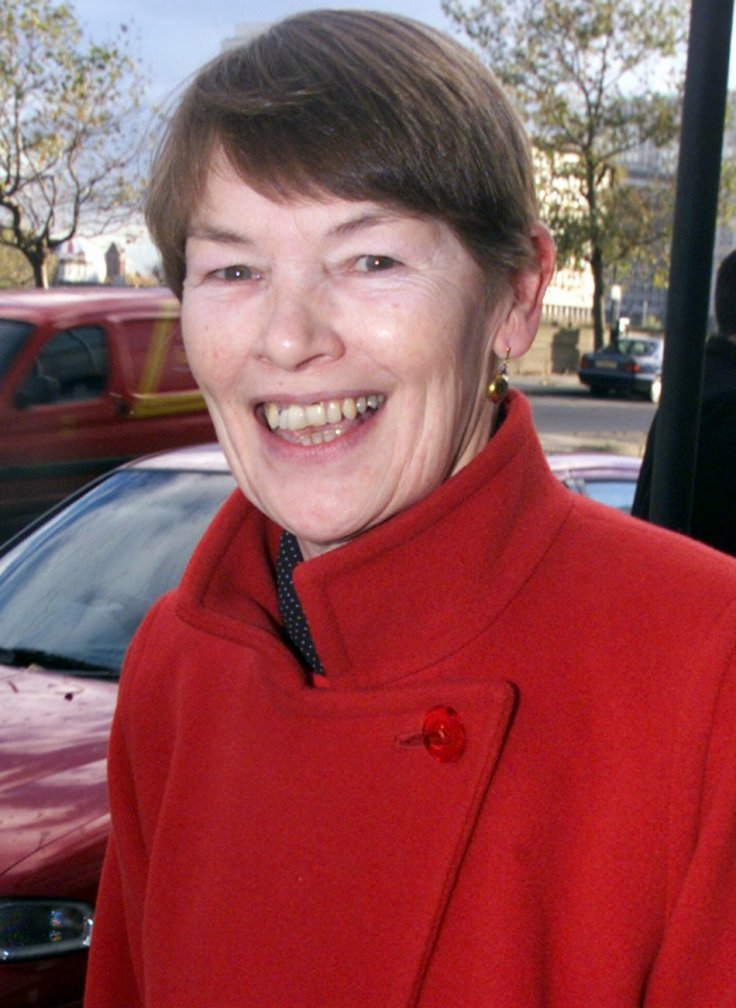 GLENDA JACKSON LEAVES MILLBANK TOWER AFTER MAYORAL CANDIDACY.
