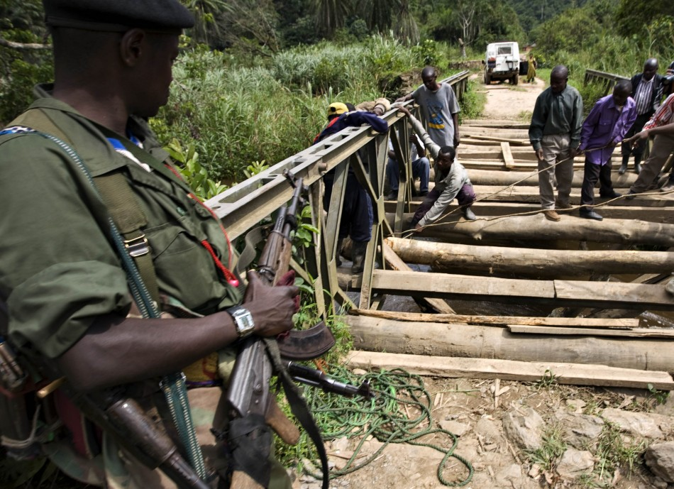 An FDLR rebel  in eastern Congo