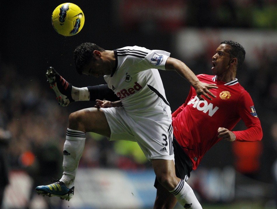 Swansea City's Neil Taylor is a reported target for Arsenal