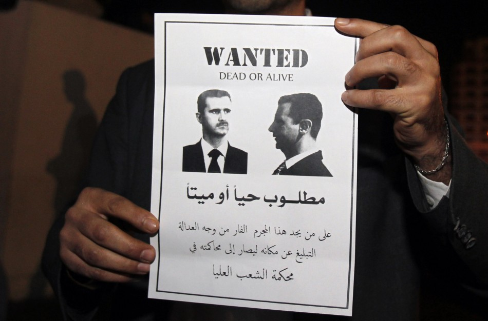 Lebanese protesters mae their feelings known about Syria's President Assad