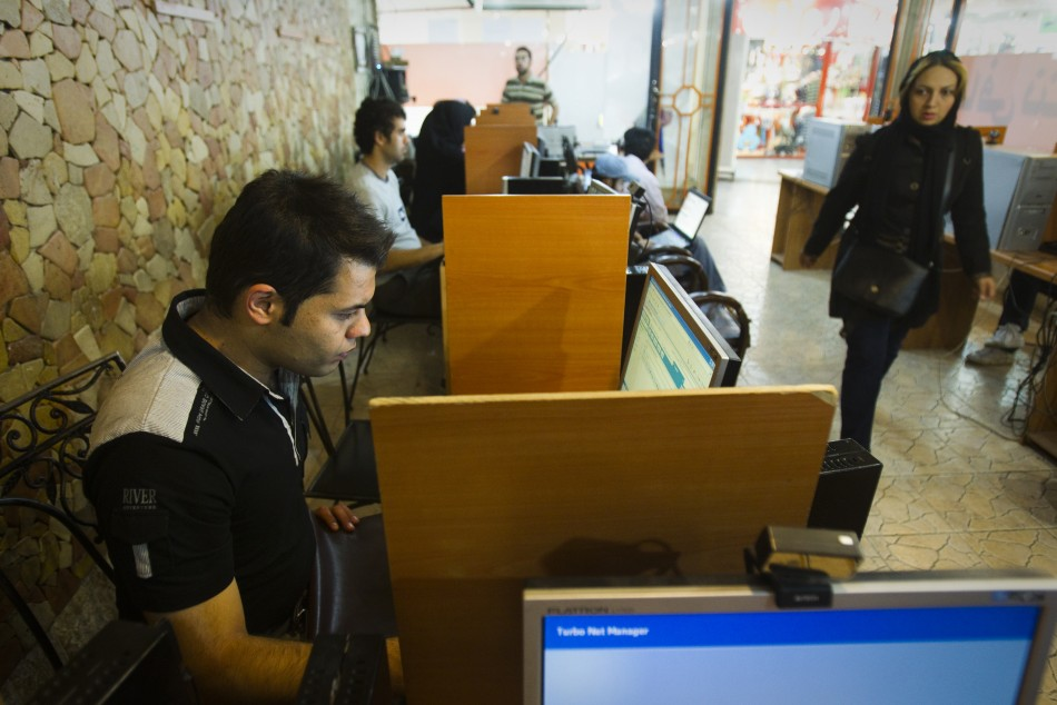 Cyber Cafe in Iran