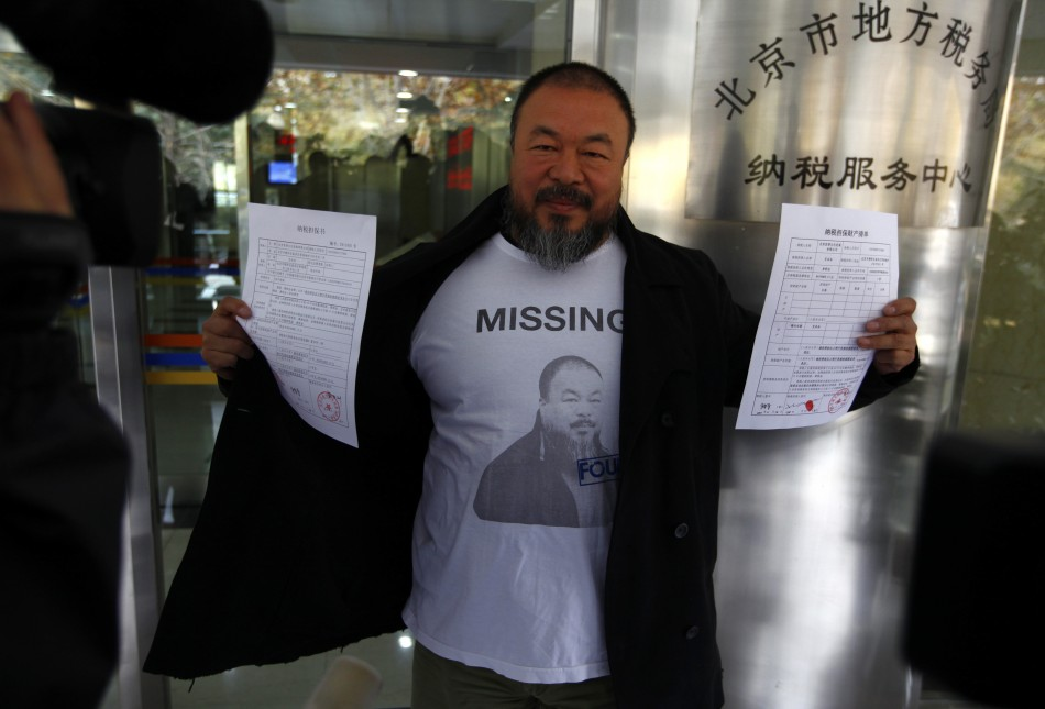 Ai Weiwei tax charges