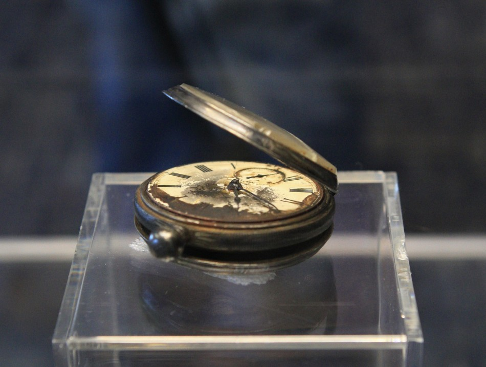 A pocket watch recovered from the RMS Titanic is on display during the Titanic Auction preview by Guernseys Auction House in New York January 5, 2012