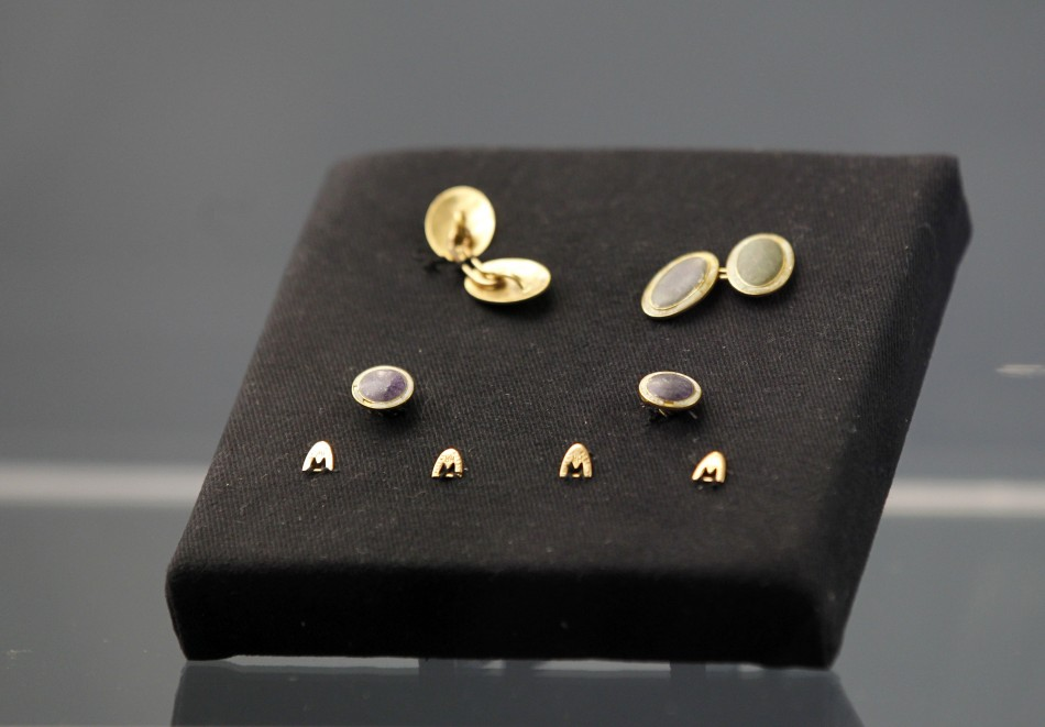 Jewellery recovered from the RMS Titanic on display during the Titanic Auction preview by Guernsey's Auction House in New York, January 5, 2012. The biggest collection of Titanic artifacts will be sold off as a single lot in an auction timed for the 100t
