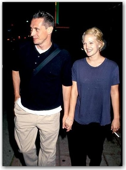 Drew Barrymore with Jeremy Thomas