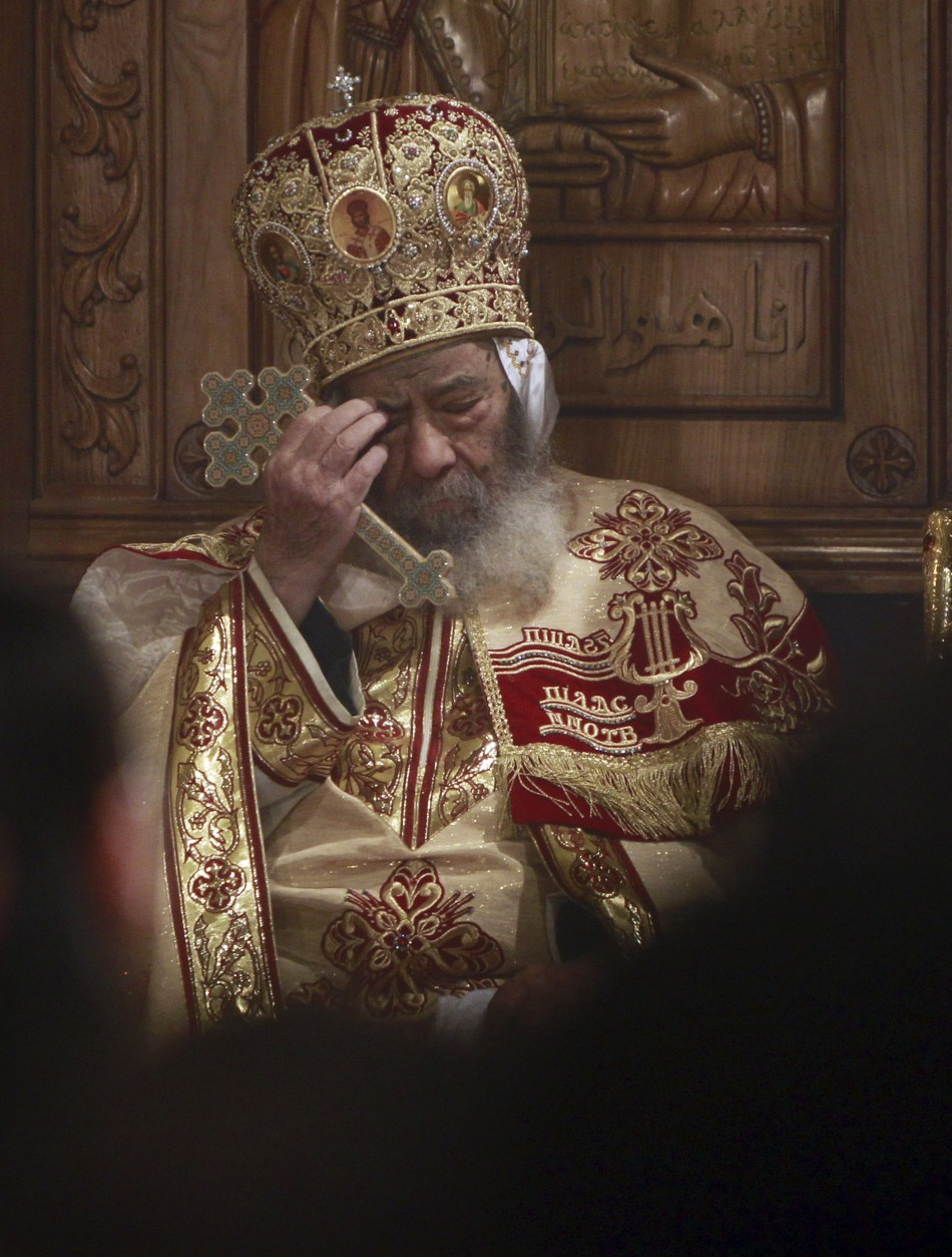 Coptic Christians Attend Christmas Eve Mass