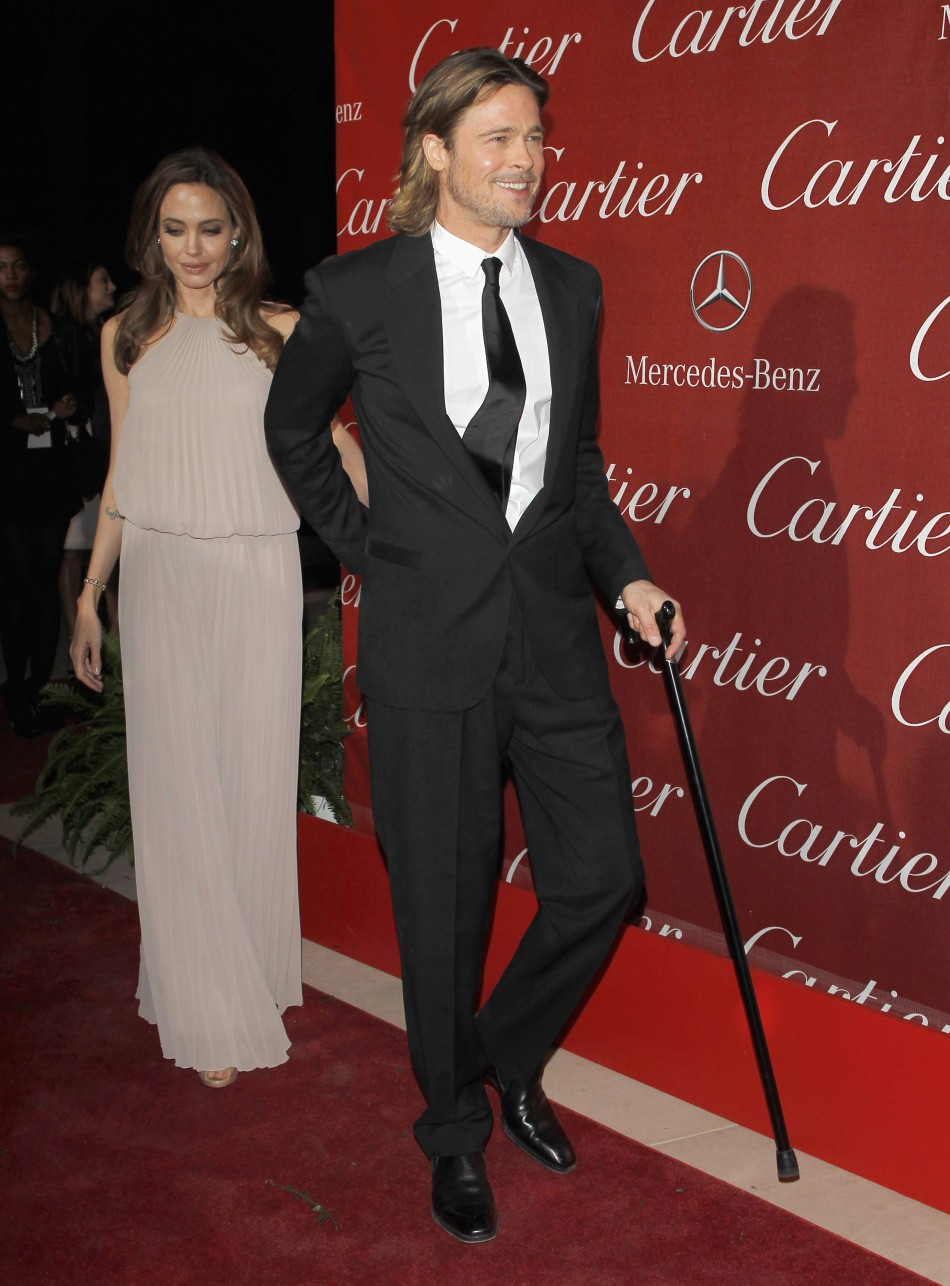 Brad Pitt Angelina Jolie Ascend At Palm Springs Film