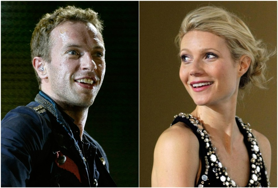 Singer Chris Martin and actress Gwyneth Paltrow