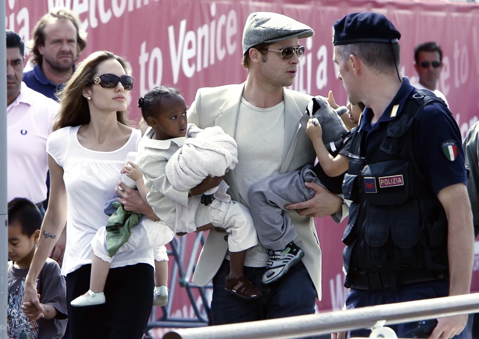 Brangelina with their kids