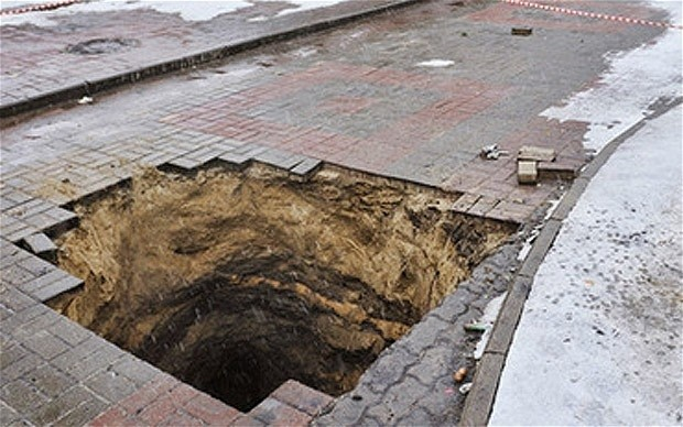 Russian Sewage Collapse