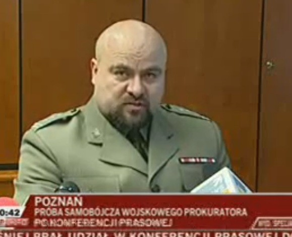 Przybyl had been speaking to reporters in his office minutes before the incident