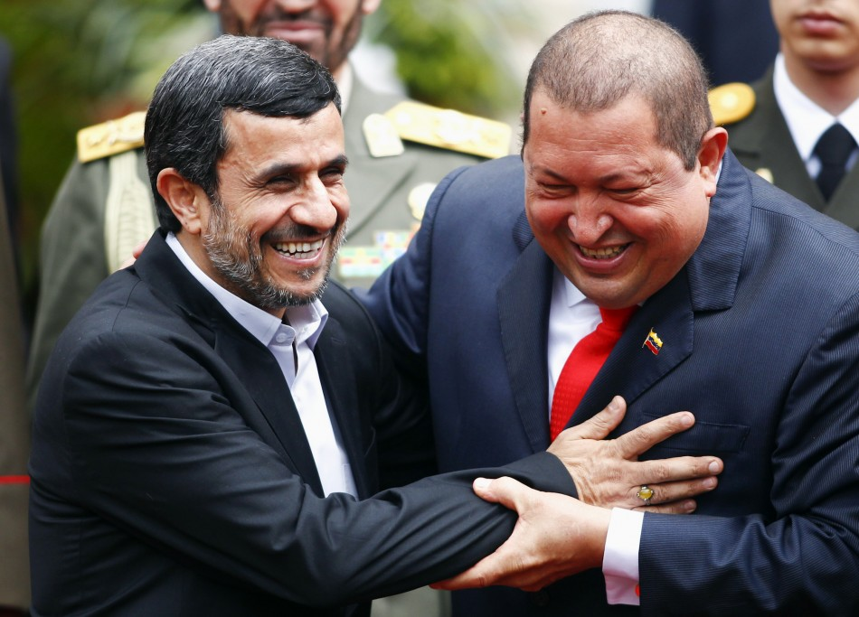 Venezuela Hugo Chavez with Ahmadinejad