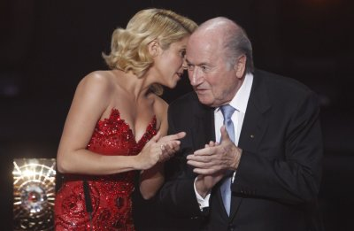 Blatter enjoys another perk of the job