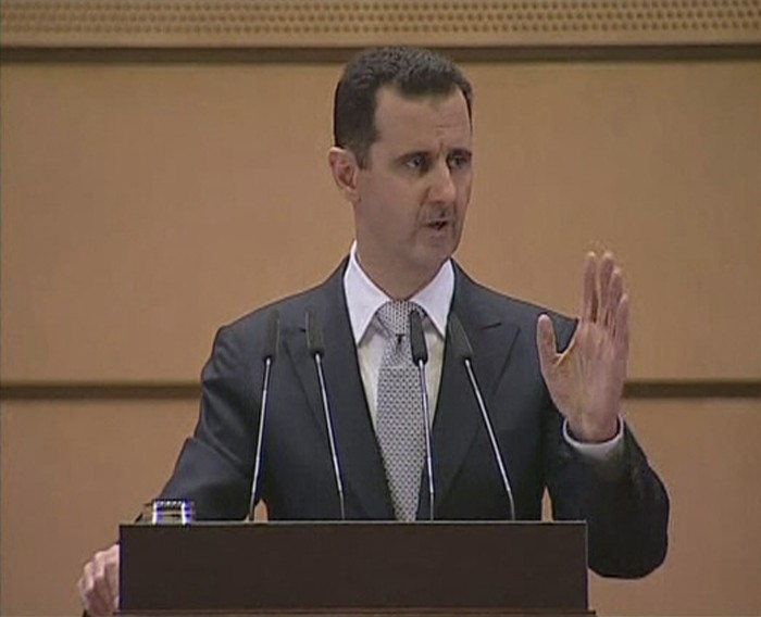 Still image taken from video shows Syria's President Bashar al-Assad