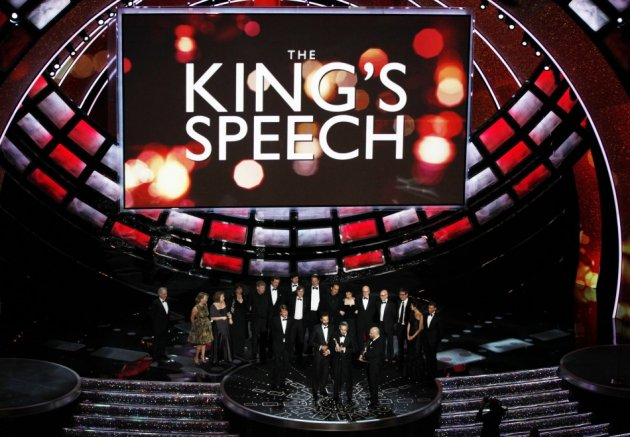 The King's Speech director Tom Hopper is joined by producers to collect the best film Oscar