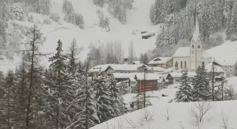 British holidaymakers have been left trapped in the Austrian town of Ischgl after 10ft of powder fell in 48 hours alone