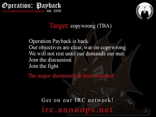 OpPayBack: Anonymous Target Dutch 'Pro-Censorship' Foundation