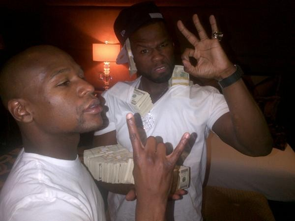 Rapper 50 Cent And Floyd Mayweather