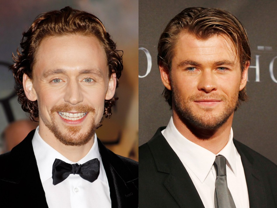 Tom Hiddleston, Chris Hemsworth