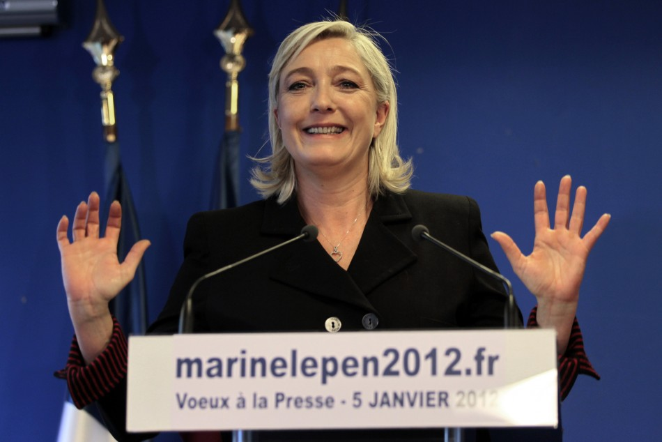 Marine Le Pen, France's National Front head and candidate for the 2012 French president election,