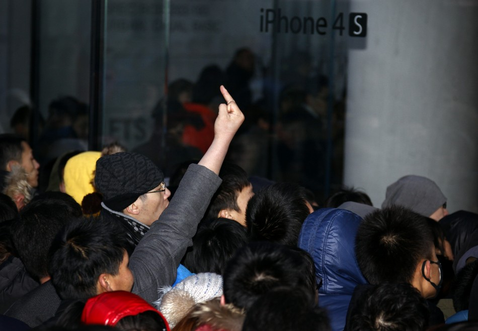 One man exhbiting unruly behaviour in agitation against store shutdown