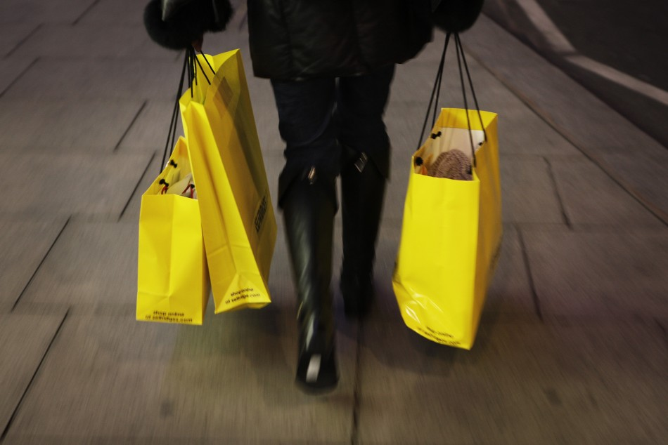 shopper on Oxford Street in London