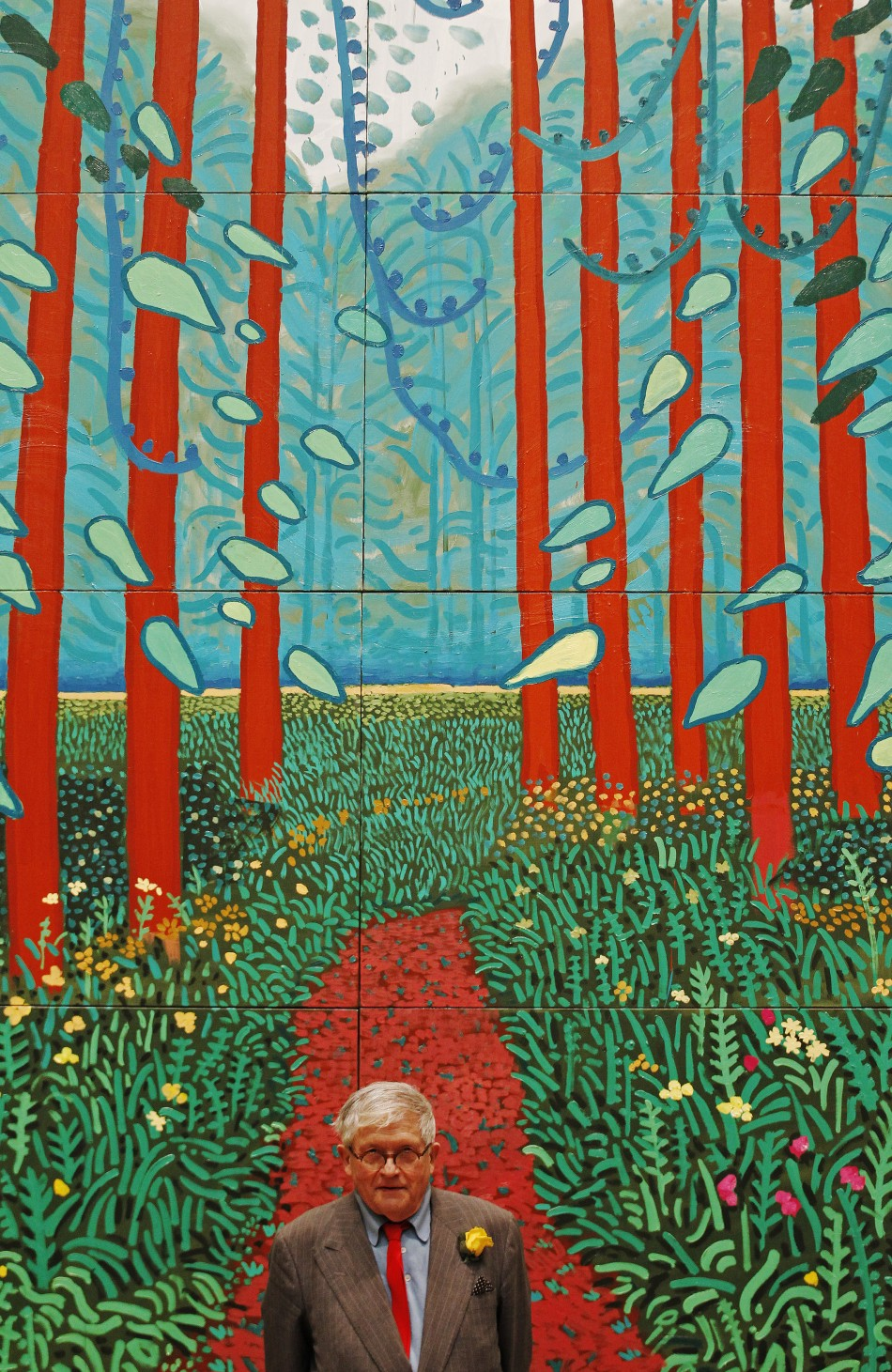 Hockney 39 s 39 a bigger picture at the royal academy for David hockney painting