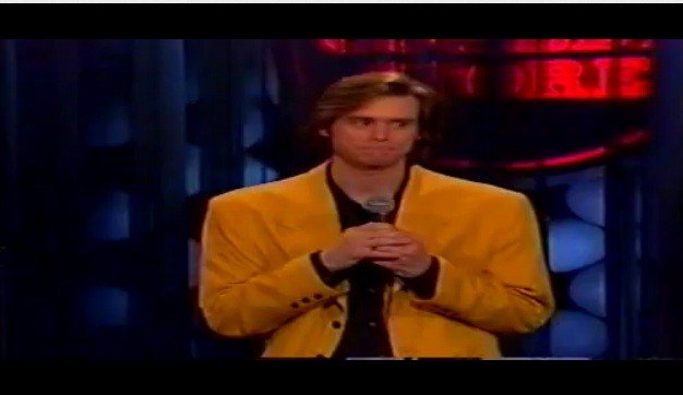 Jim Carrey in his first stand-up appearance as a comedian in 1979