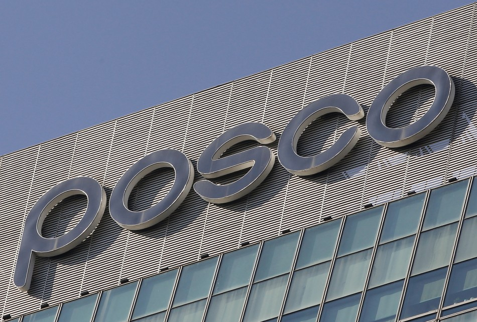 A logo of POSCO