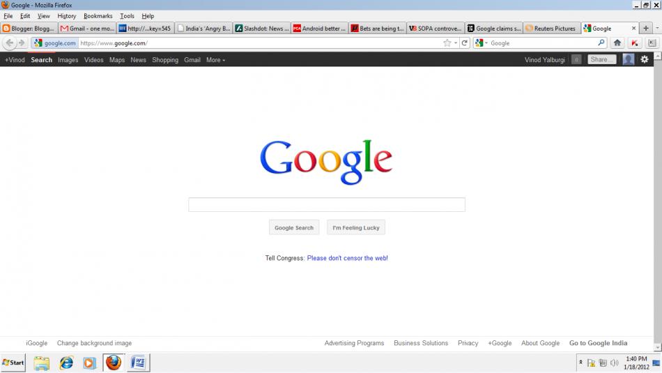 Google's anti-SOPA campaign
