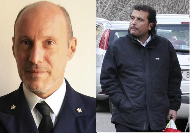 Captain Gregorio De Falco and Francesco Schettino