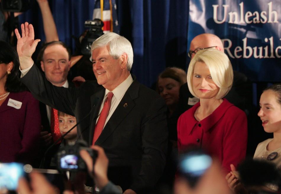 Republican U.S. presidential candidate Newt Gingrich