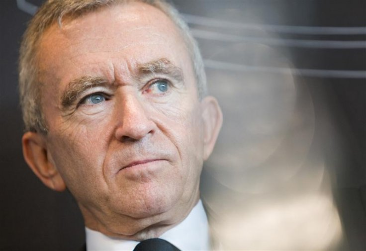 LVMH Moet Hennessy Louis Vuitton chairman and CEO Arnault attends a news conference after the official inauguration of the Hublot manufacture in Nyon