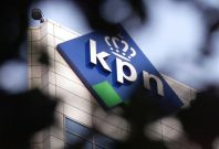 EXTERIOR VIEW OF KPN TELECOMS OFFICES IN THE HAGUE.