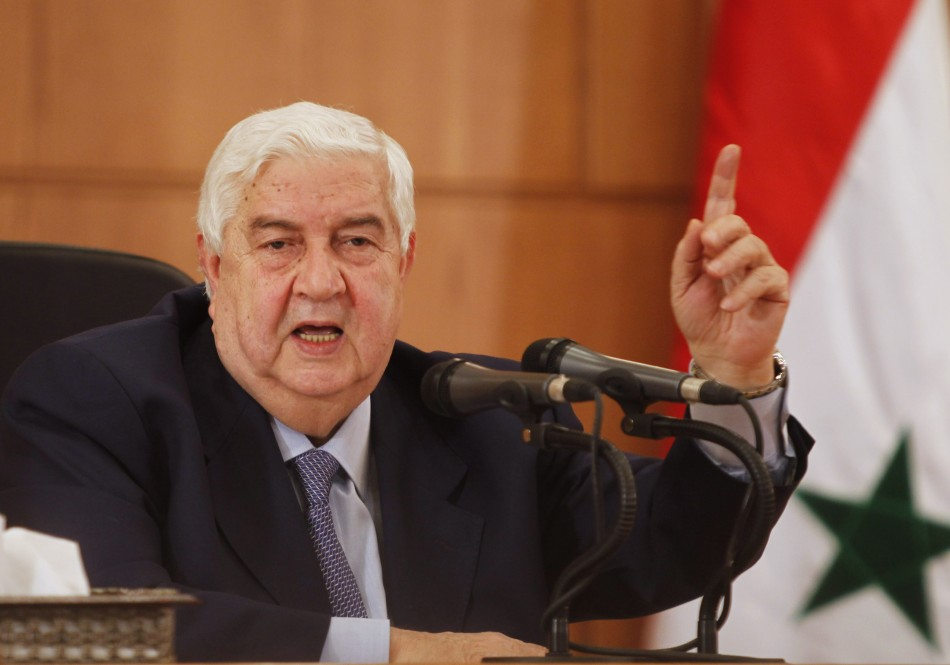 Syria's foreign minister Walid al-Mouallem