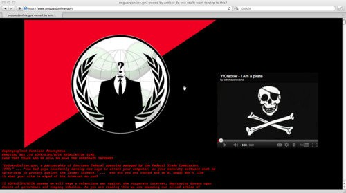 Anonymous attacks US government online security website