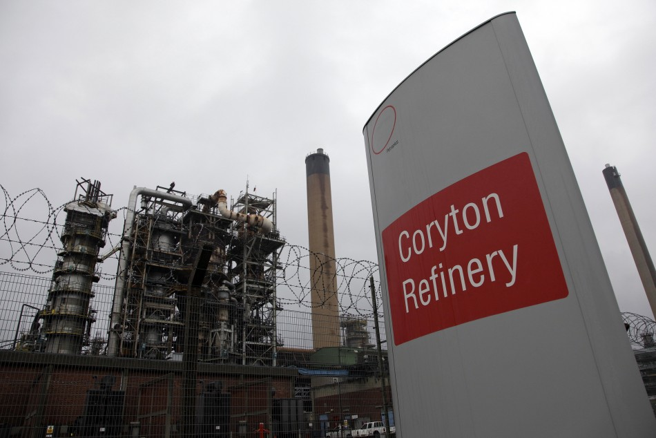 Coryton refinery in Essex accounts for 20 percent of the southeast's fuel suppy