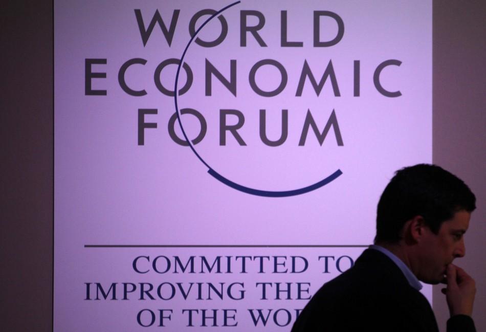 A delegate at Davos