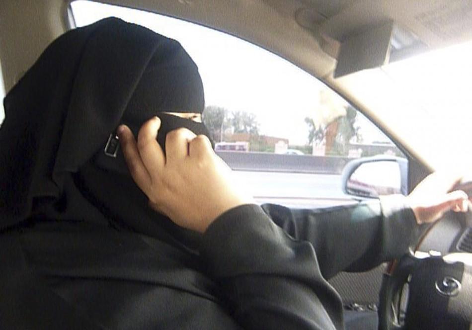 A woman driver defies the ban in Riyadh, Saudi Arabia