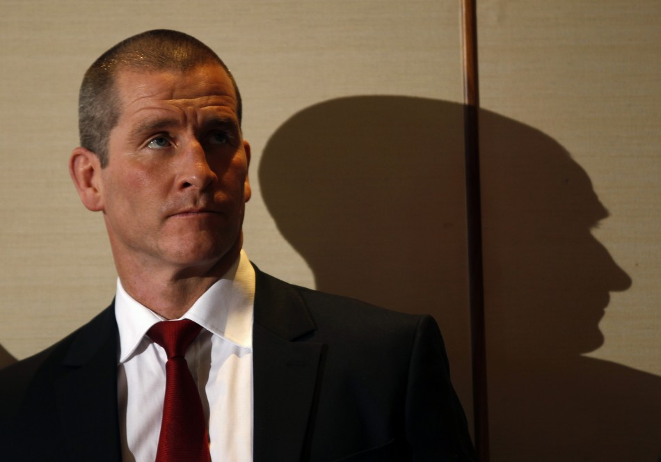 England rugby's interim head coach Lancaster attends the launch of the Six Nations rugby championship at the Hurlingham Club in London