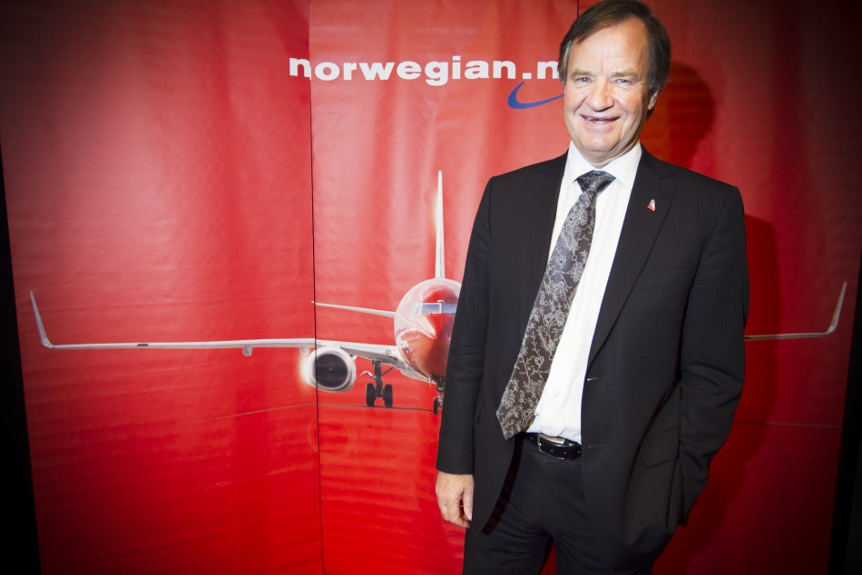 Bjorn Kjos, CEO of Norwegian Air Shuttle, which is renewing its fleet with the purchase of 222 new aircraft