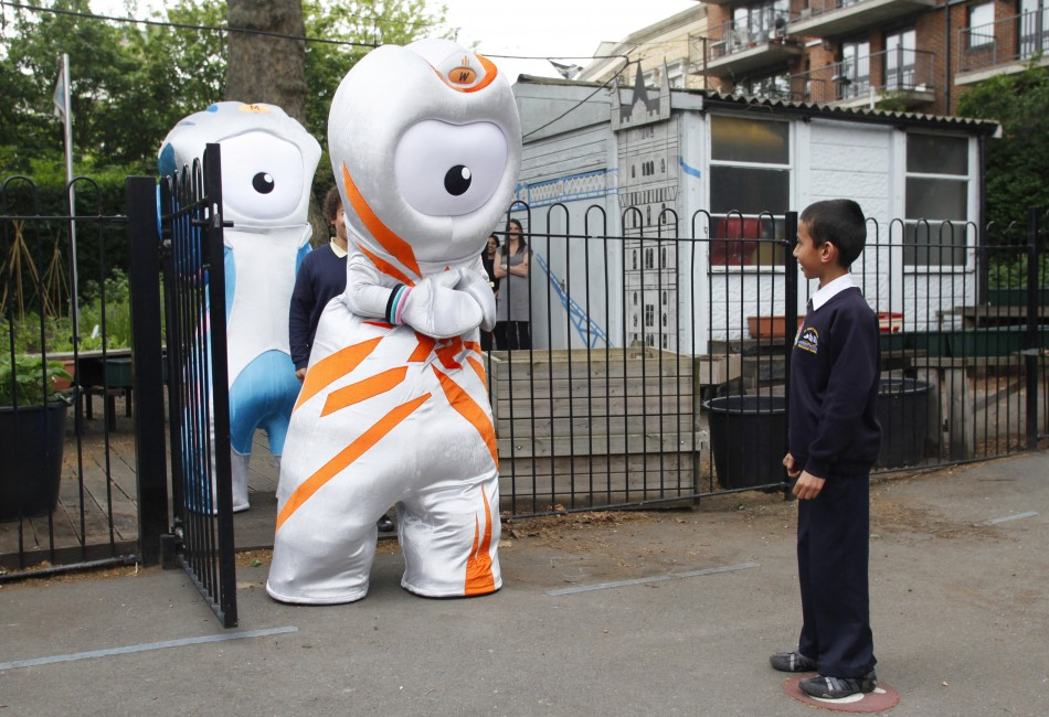 The 2012 Olympic mascot Wenlock and Paralympic masco