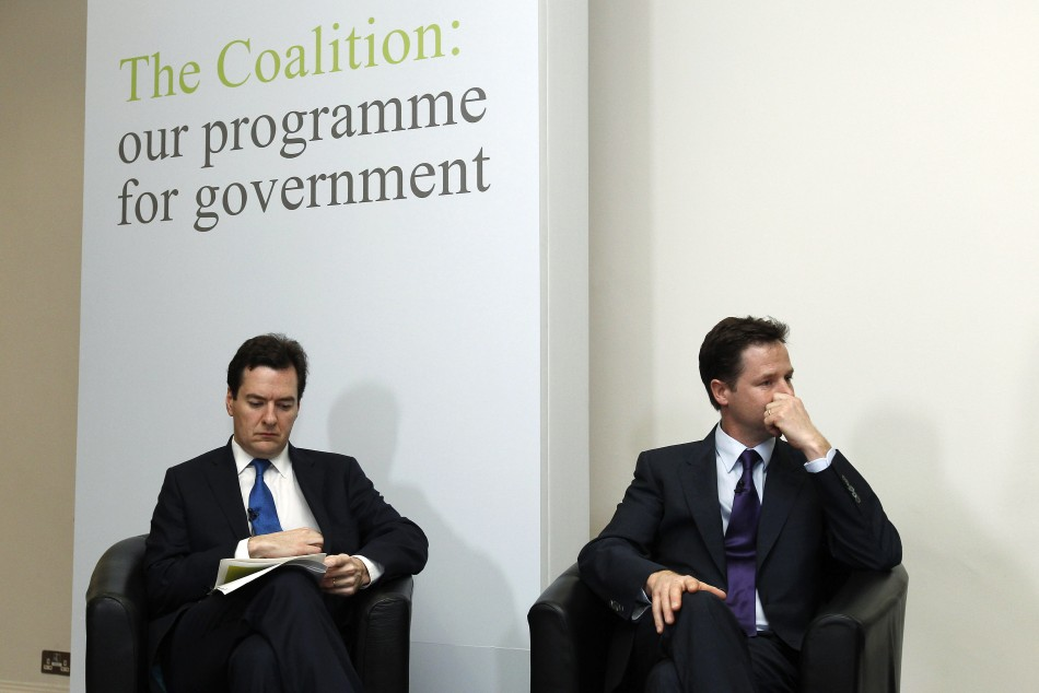 George Osborne Nick Clegg